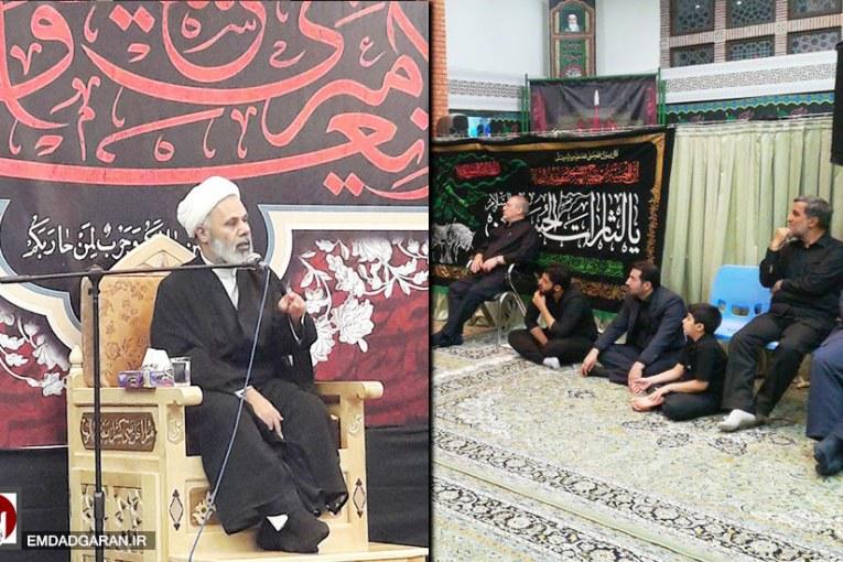 مراسم شب هفتم سوگواری امام حسین (ع) در حسینیه امدادگران عاشورا