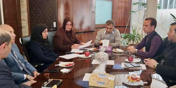 جلسه امدادگران کرمانشاه با معاونت دانشگاه علوم پزشکی