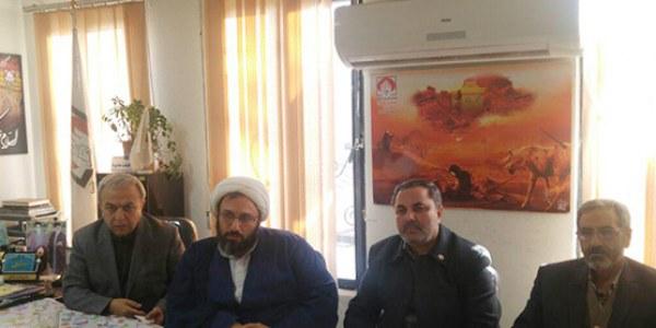 جلسه امدادگران ارومیه با نماینده محترمآستان قدس رضوی