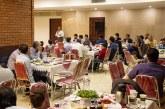 افطار صمیمانه همکاران خیریه به سنت سال های گذشته